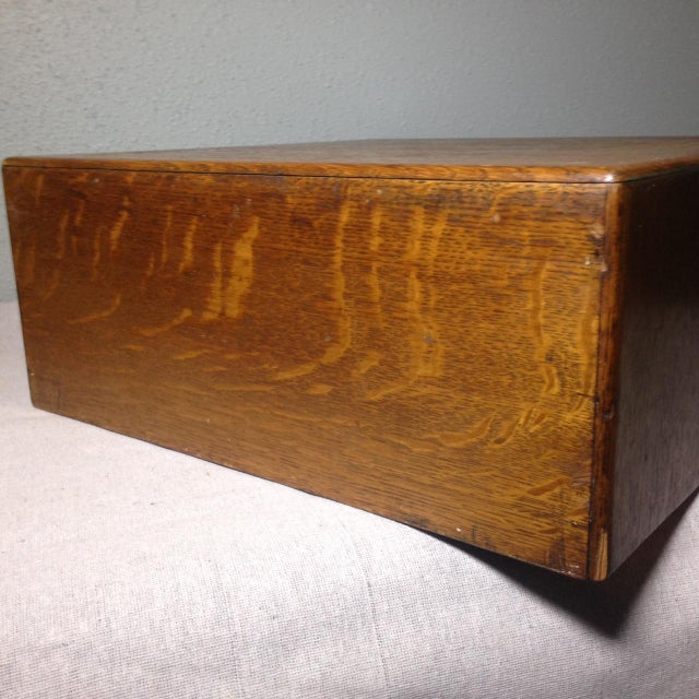 Early Twentieth Century Wooden Library Card Catalog For Sale - Image 12 of 13