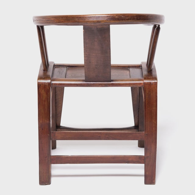 19th Century Provincial Chinese Elm Roundback Chair For Sale - Image 4 of 6