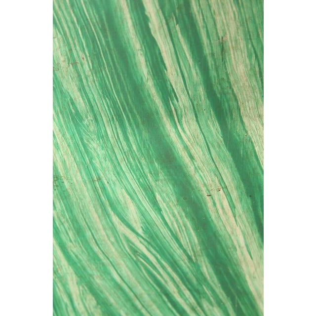 Wood Faux Malachite Floor Lamps For Sale - Image 7 of 8