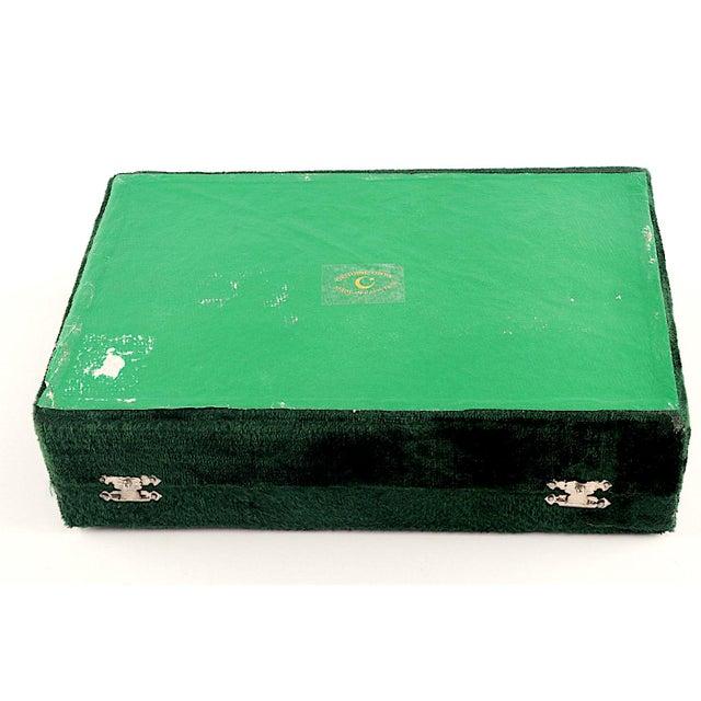 Green Onyx Napkin Rings in Velvet Presentation Case - Set of 12 For Sale - Image 8 of 9