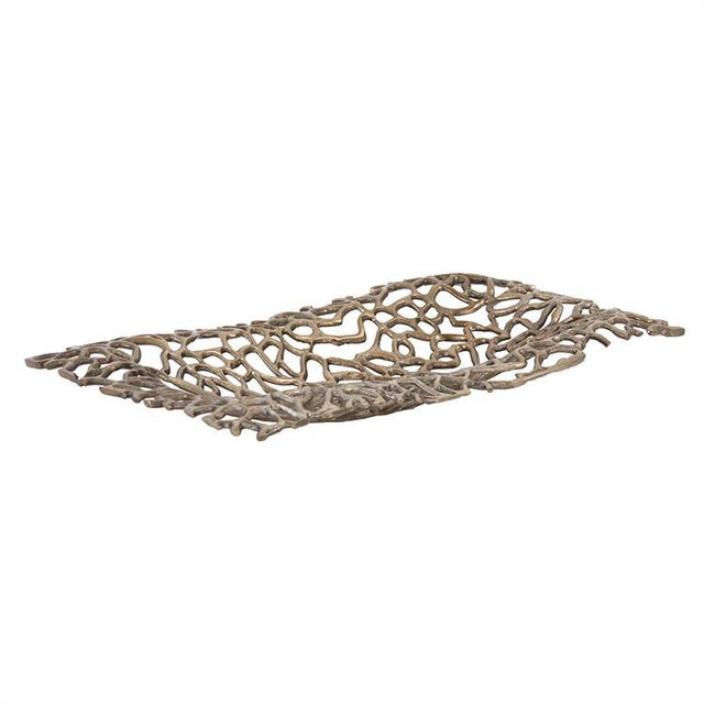 Contemporary Kenneth Ludwig Bronze Aluminum Branch Tray For Sale - Image 3 of 6