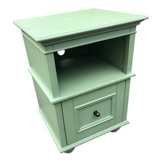 Traditional Light Green Painted Night Stand For Sale