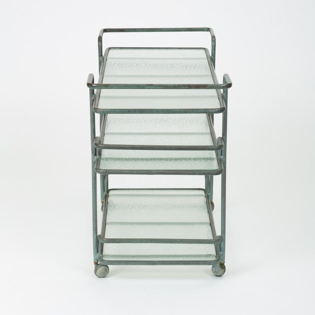 Richard Frinier Bronze Bar Cart for Brown Jordan For Sale - Image 9 of 13