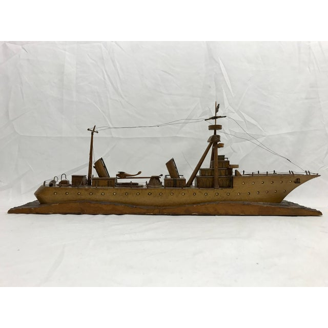 French Folk Art Ship For Sale - Image 4 of 7