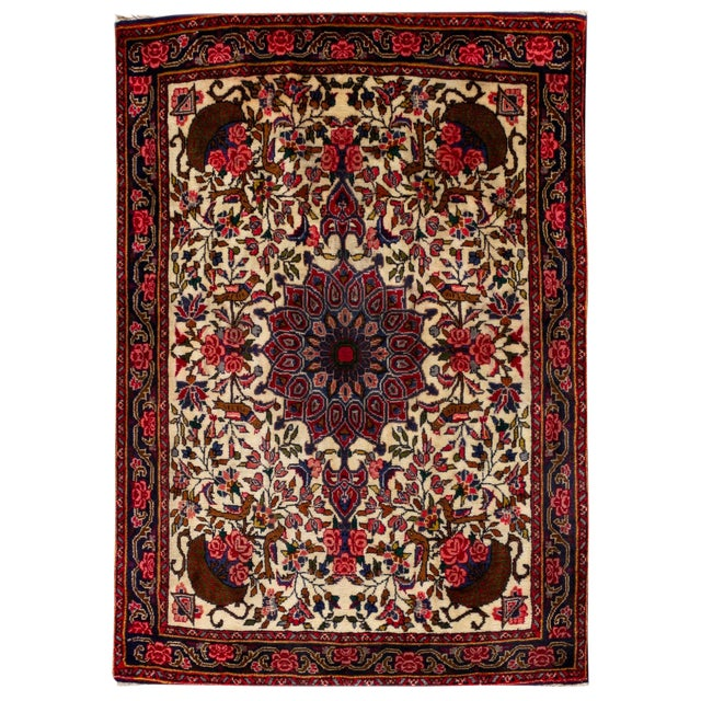 """Vintage Persian Rug, 2'7"""" X 3'6"""" For Sale"""