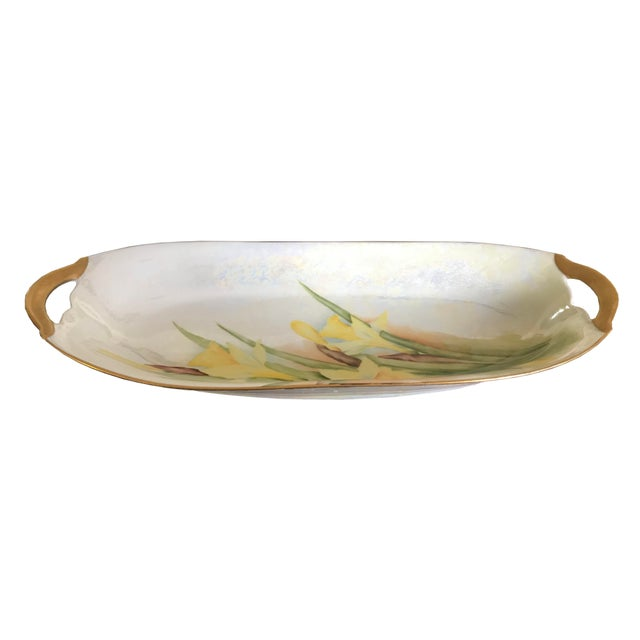 1900 - 1909 Antique 1900s Kristef Porcelain Serving Dish For Sale - Image 5 of 5