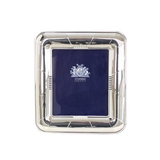 Medium Large Sterling Silver Picture Frame For Sale
