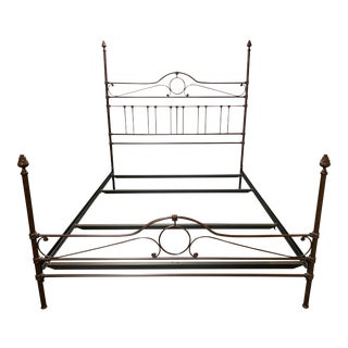 California King Custom Cast Metal Bed Frame For Sale