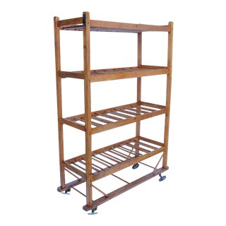 19th Century American Cobbler Wood Rack/Shelves