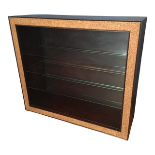 Paul Frankl Cork Trimmed Bookcase For Sale