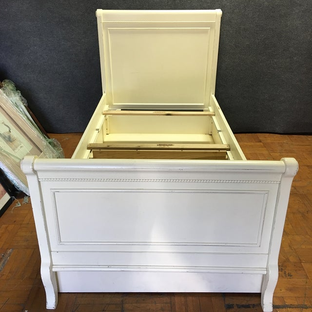 White Twin Bed with Drawers - Image 3 of 8