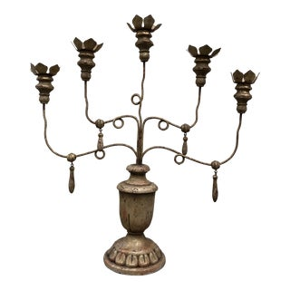 Vintage Gothic Style Candelabra For Sale