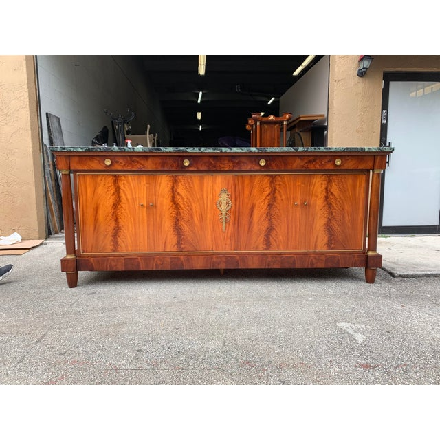 Metal 1900s French Empire Antique Sideboard For Sale - Image 7 of 13