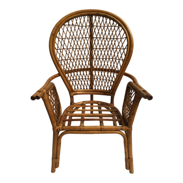 Fabulous Vintage Mid Century Fan Back Rattan Chair Gmtry Best Dining Table And Chair Ideas Images Gmtryco