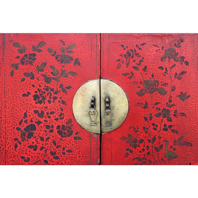 Antique Chinoiserie Lacquer Cabinet For Sale In Los Angeles - Image 6 of 8