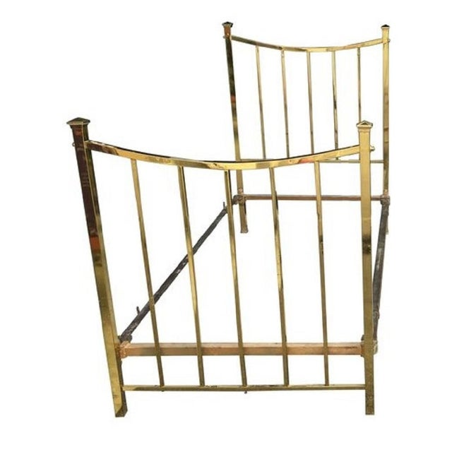 Art Deco brass twin bed French single, circa 1930. Available only 1 bed.