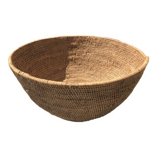African Woven Tribal Basket For Sale
