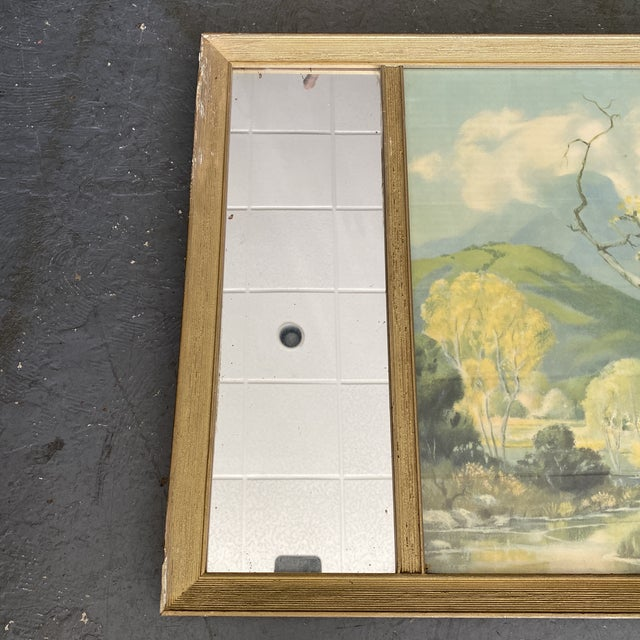 Vintage Edwin Hinde Print With Antique Mirror Frame For Sale - Image 4 of 7