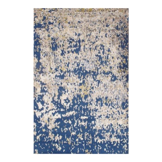 Contemporary Hand-Knotted Silk Rug - 5' x 8'
