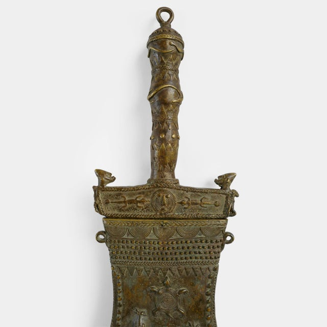 Akan/Ashanti Bronze Ceremony Knife For Sale - Image 4 of 7