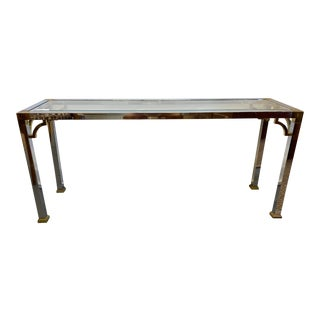 Mastercraft Chrome Console Table For Sale
