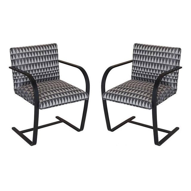 Mies Van der Rohe Late 20th Century Vintage Flat Bar Brno Chairs - a Pair For Sale - Image 4 of 8