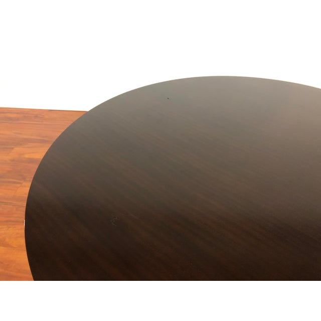 Metal Ray and Charles Eames Circular Mahogany Dining Table by Herman Miller For Sale - Image 7 of 9