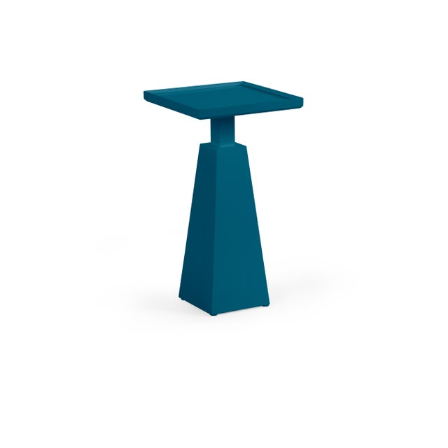 Transitional Casa Cosima Hayes Spot Table, Blue Danube For Sale - Image 3 of 3