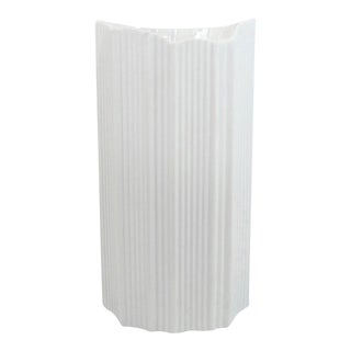 XL Modernist White Ribbed Bisque Vase by Martin Freyer For Sale