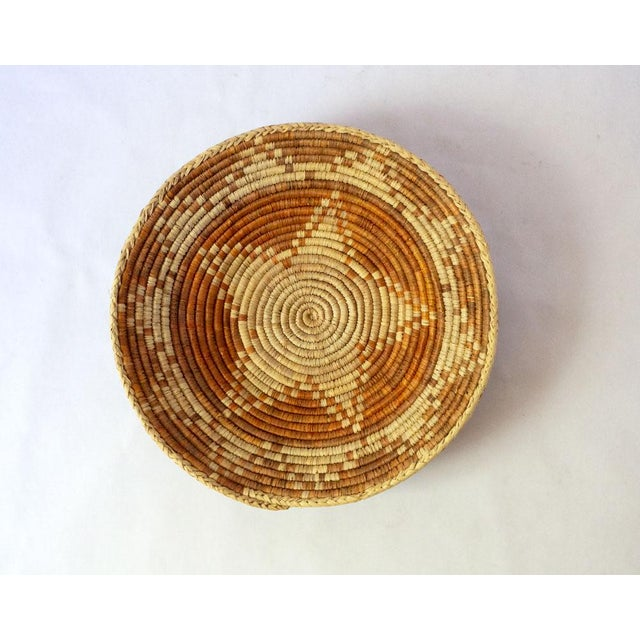Vintage Mid-Century Woven Basket For Sale - Image 4 of 5