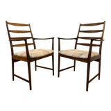 Image of Rosewood Mid Century Armchairs by Torbjorn Afdal for Vamo Sonderborg -A Pair For Sale