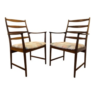 Rosewood Mid Century Armchairs by Torbjorn Afdal for Vamo Sonderborg -A Pair For Sale