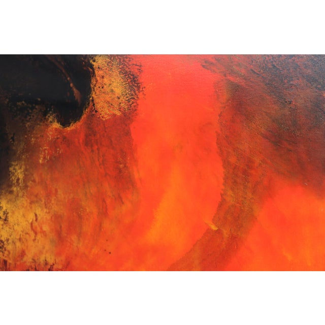 Here is a stunning and powerful painting by Montreal artist, John Popovic. The work features deep dark blacks, contrasted...