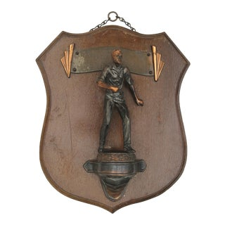1938 Athletic Wall Plaque Trophy For Sale