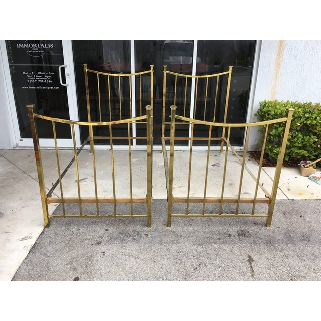 Art Deco Art Deco Brass Twin Bed French Single, Circa 1930 For Sale - Image 3 of 10