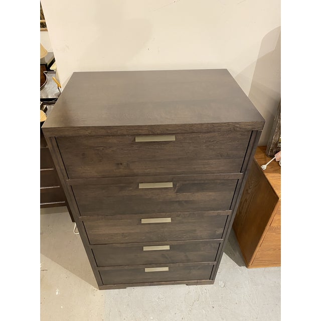 2010s Baronet Silver 5 Drawer Highboy For Sale - Image 5 of 10