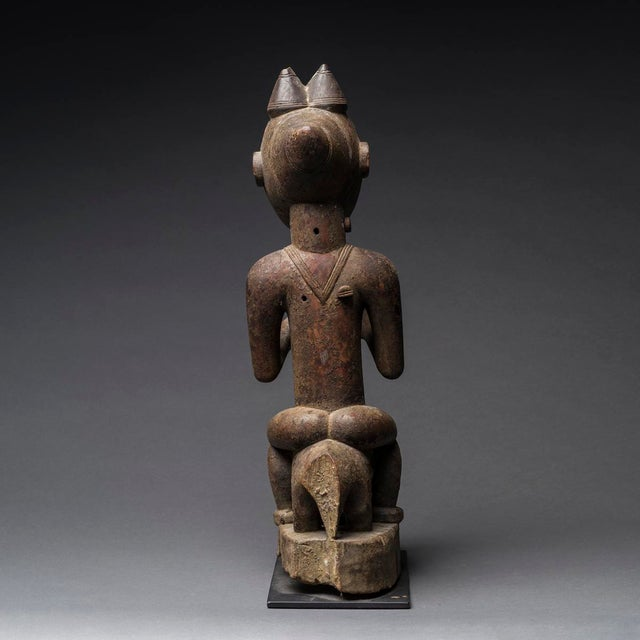 African Lagoons Region Sculpture of an Animal and Rider For Sale - Image 3 of 5