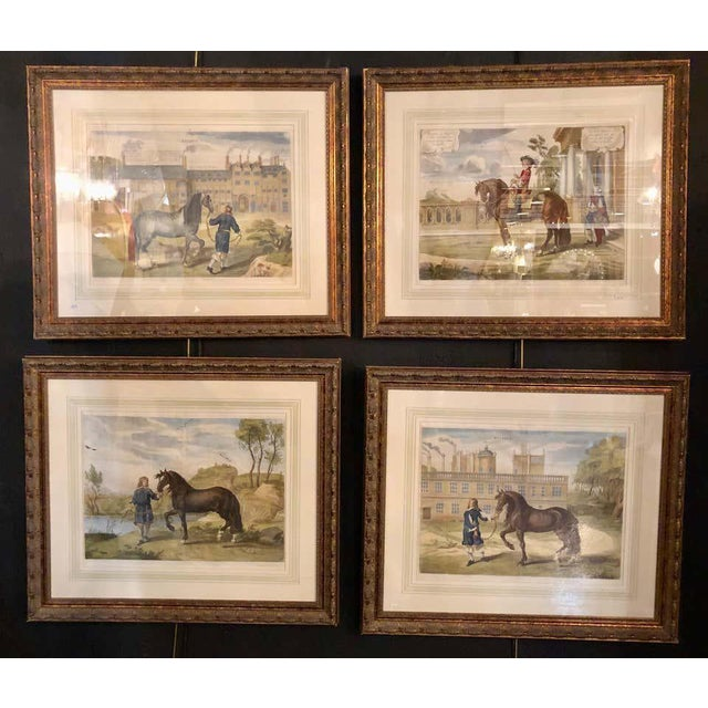 Set of Four Finely Framed and Matted Engravings of English Men on Their Horses For Sale In New York - Image 6 of 13