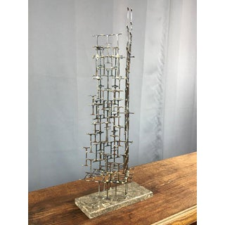 Mario Jason Towering Brutalist Abstract Sculpture, Signed and Dated Preview