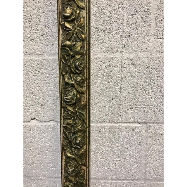 Pair of French Style Architectural Carved Parcel Gilt Rose Motif Wall Appliqués For Sale In Atlanta - Image 6 of 12
