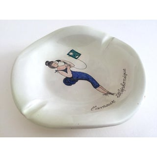 """Vintage Mid Century Modern Italy Art Pottery """" L'Amour Telephonique """" Ceramic Ashtray Preview"""