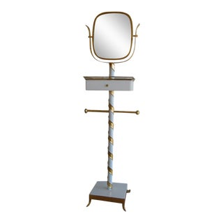 Venetian Gilded & Lacquered Swivel Mirror Stand For Sale