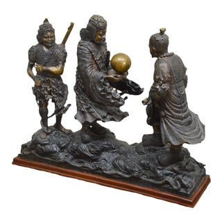 Samurai Warriors Large Bronze Sculpture