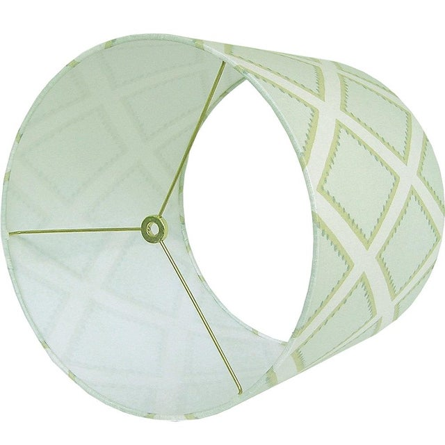 Kravet Celadon Brookhaven Fabric Drum Lamp Shade - Image 2 of 3