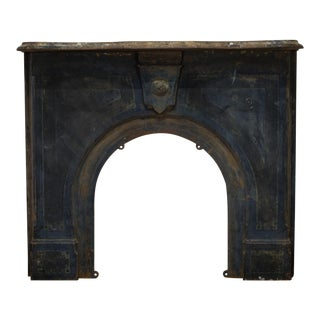 19th C. Cast Iron Fireplace Surround C. 1800s For Sale