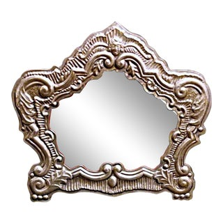 18th Century Venetian Style Silver Frame For Sale