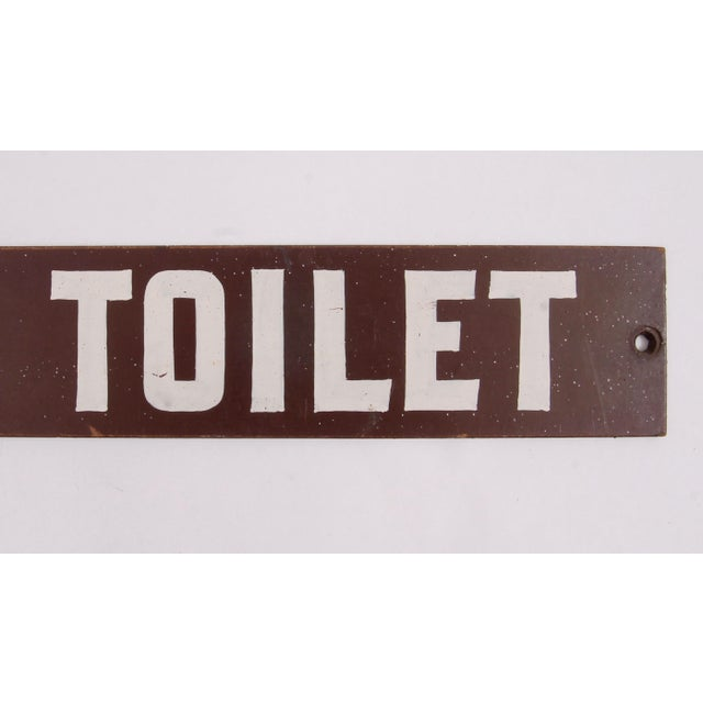 American Vintage Girls Toilet Sign For Sale - Image 3 of 5