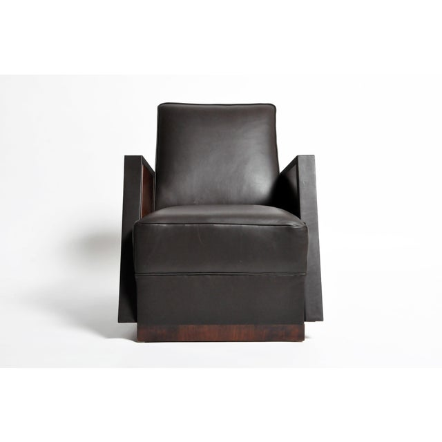 Italian Leather Reclinable Armchairs - a Pair For Sale - Image 4 of 13