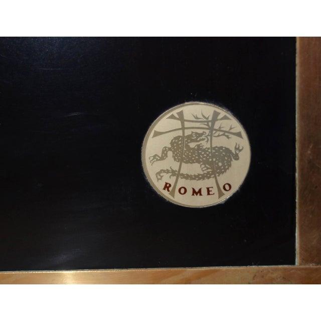 Brass Black and Brass Loveseat, Italy, 1970s, Romeo Rega For Sale - Image 7 of 10