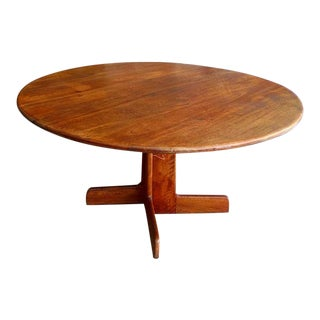 Rustic Gerald McCabe Shedua Wood Dining Table For Sale